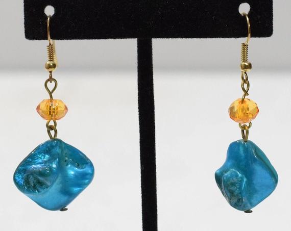 Earrings Blue Shell Dangle Earrings