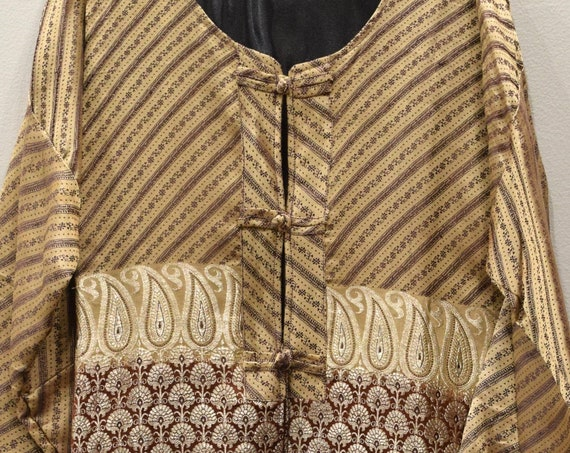 Jacket Silk Beige Brocade Jacket