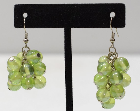 Earrings Green Glass Drop Earrings