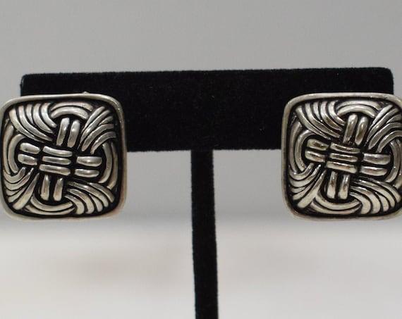 Earrings Silver Woven Clip Earrings