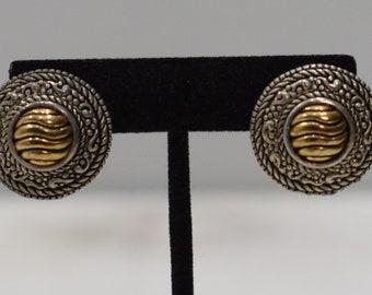 Earrings Gold Silver Clip Earrings