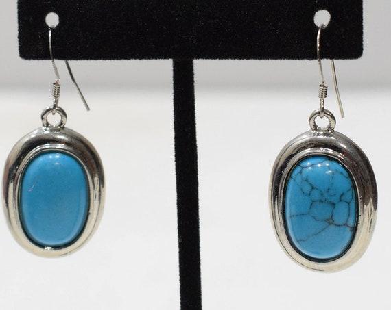 Earrings Stabilized Turquoise Dangle Earrings