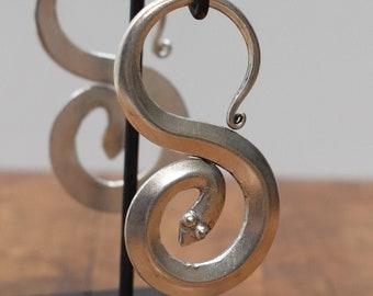 Earrings Silver Miao /Hmong Snake Earrings