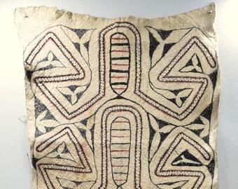 "Papua New Guinea Barkcloth Ceremonial Baining Cloth Tapa Cloth 76"""