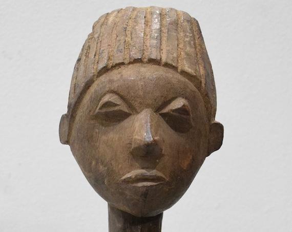 "African Statue Lobi Male Wood Statue Burkina Faso 26"""