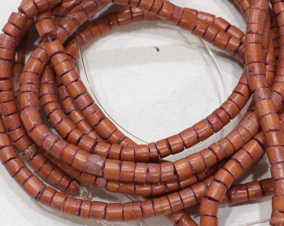Beads Reddish Brown Coconut Heishi 2-4mm
