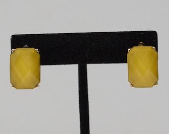 Earrings Gold Faux Stone Post Earrings