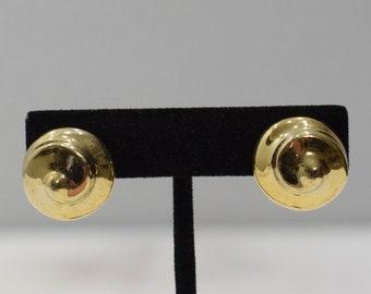 Earrings Gold Curly Cue Clip Earrings