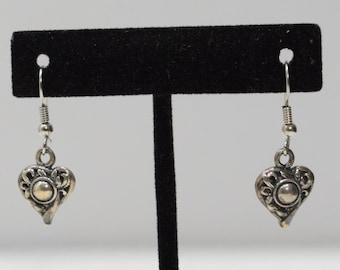 Earrings Sterling Silver Heart Drop Earrings