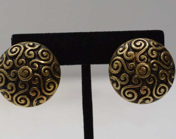 Earrings Gold Swirl Clip Earrings