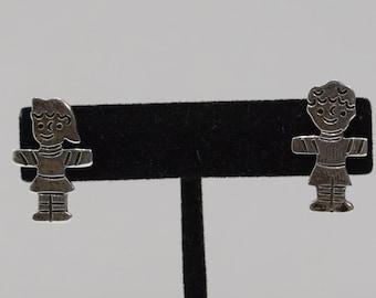 Earrings Sterling Silver Girl Boy Post Earrings