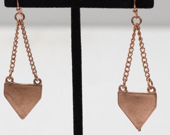 Earrings Copper Chain Drop Earrings