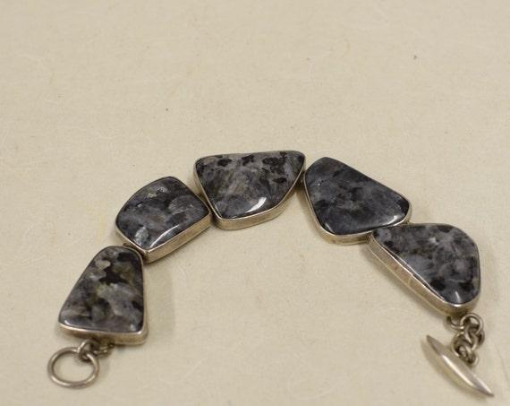 Bracelet Sterling Silver Labradorite Handmade Handcrafted Labradorite Bracelet Gift for Her Jewelry Birthday