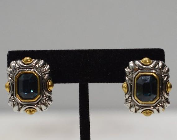 Earrings Silver Green Crystal Clip Earrings
