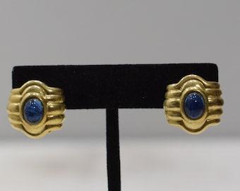 Earrings Gold Wave Glass Clip Earrings