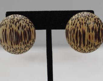 Earrings Light Palmwood Clip Earrings