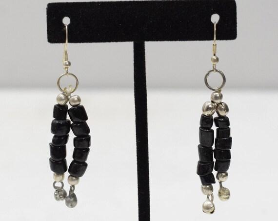 Earrings Black Glass Earrings
