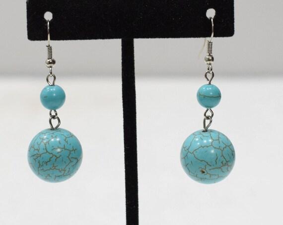 Earrings Stabilized Turquoise Stone Earrings