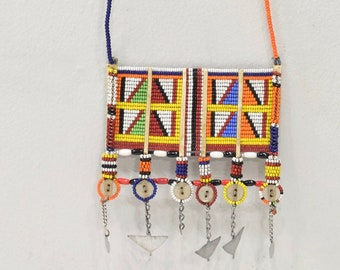 Necklace African Masai Beaded Necklace