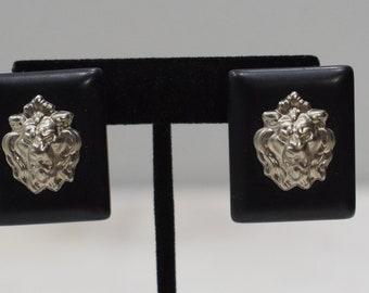 Earrings Black Square Clip Earrings