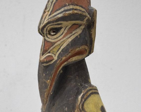 Papua New Guinea Bird Wood Statue Sabut Creation Myth Bird Protecton Creation Knowledge Bird