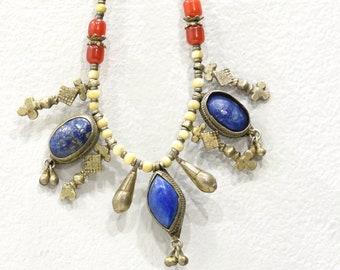 Necklace Afghanistan Lapis Carnelian Necklace