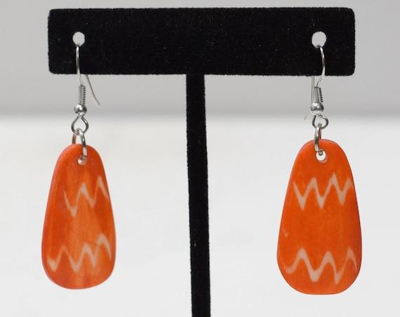 Earrings Philippine Orange Bone Earrings