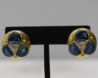 Earrings Gold Cubic Zirconia Clip Earrings