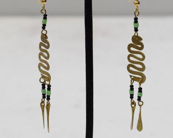 Earrings African Brass Coil Earrings