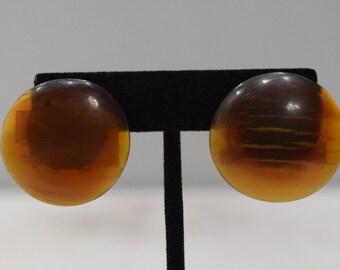 Earrings Brown Horn Clip Earrings