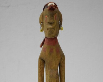 African Masai Wood Fertility Married Status Doll