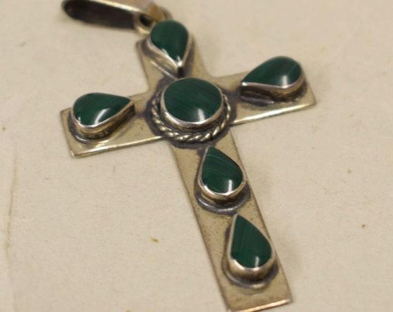 Cross Sterling Silver Jade Stones Religious Spiritual Religious Cross Pendant