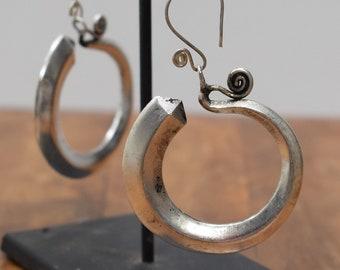 Earrings Silver Miao /Hmong Hoop Earrings