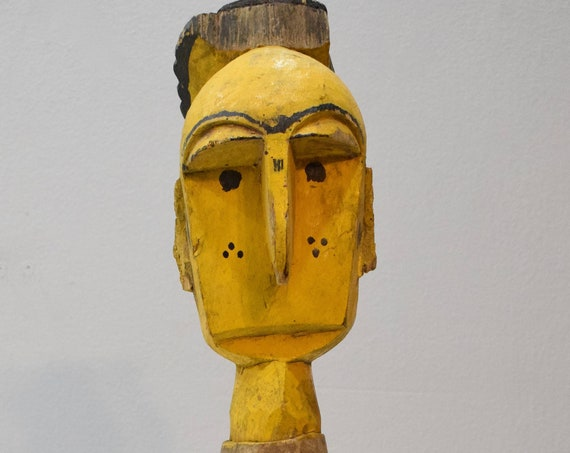 "African Mask Bambara Marionette Puppet Mali 23"""