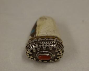 "Pendant Tibet Conch Shell Silver Pendant 1.75"""