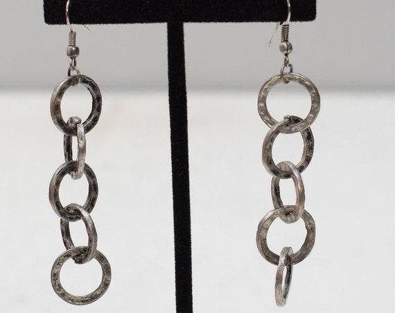 Earrings Turkish Pewter Dangle Earrings