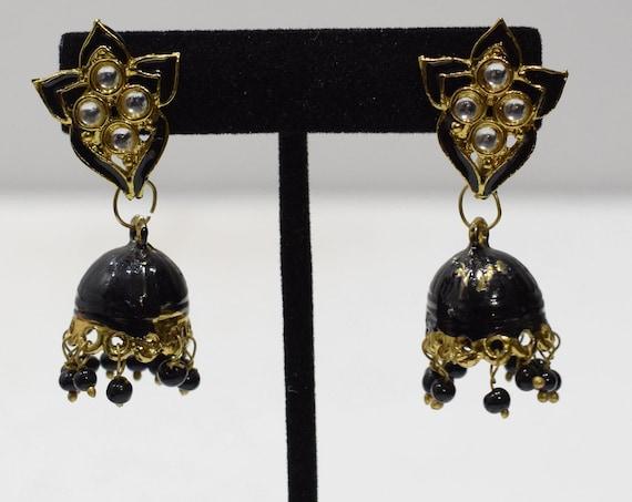 Earrings Ornate India Style Post Dangle Earrings