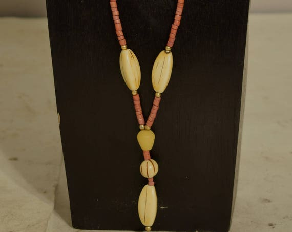 Necklace Buri Nut Resin Coconut Heishi Pendant Beaded Handmade Buri Nut Jewelry Necklace