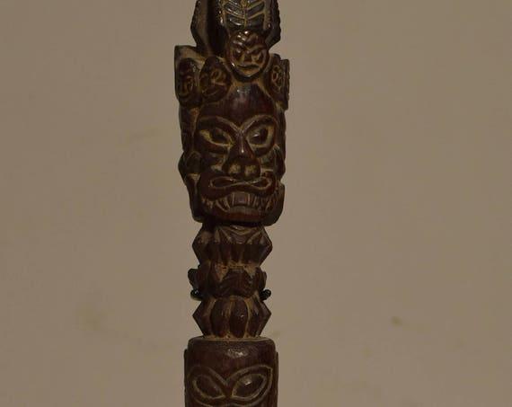 Tibet Phurwa 1970 Carved Wood Magic Dagger Ritual Peg Tibetan Phurwa