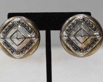 Earrings Silver Round Clip Earrings