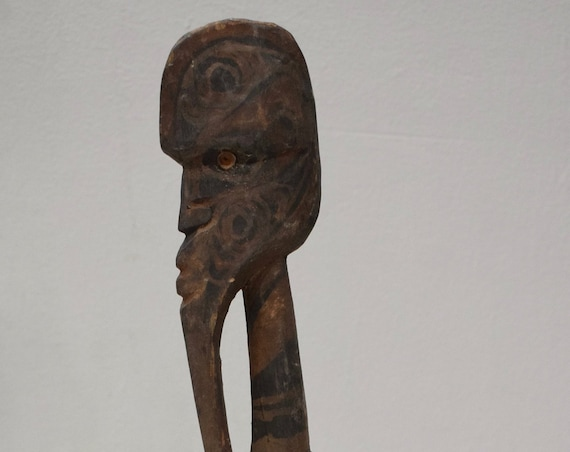 Papua New Guinea Bird Wood Statue Sabut Creation Myth Bird Protecton Bird
