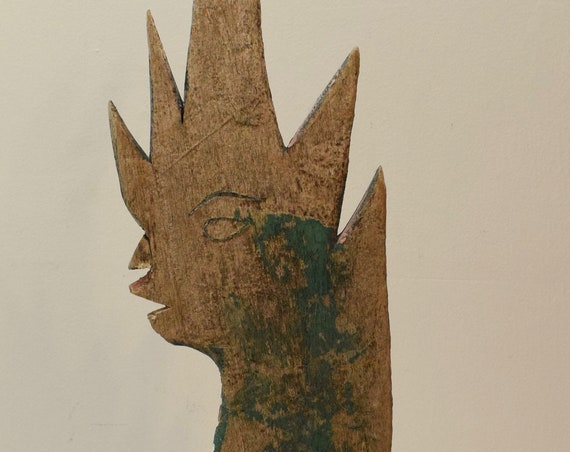 Naga Wood Statue Buddhist Naga Symbol Great Cobra Naga Wood Carved Statue