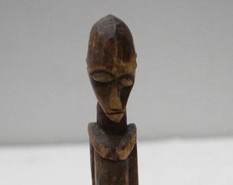 African Lobi Wood Statue Female Burkina Faso Ceremonial Lobi Statue