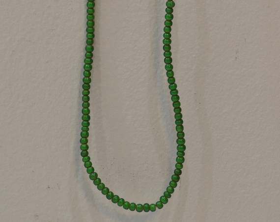 Beads Green White Heart Glass Round African Glass Beads 3mm