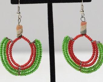 Earrings African Beaded Earrings