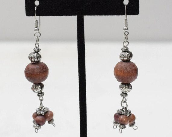 Earrings Philippine Wood Ball Earrings