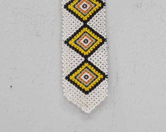 African Zulu Beaded Charm Tie Fetish Necklace South Africa 13.5""