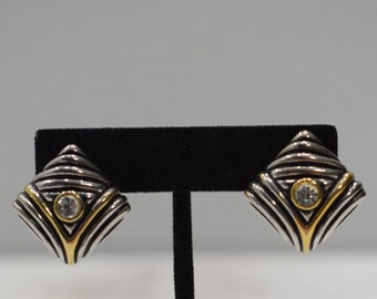 Earrings  Silver Cubic Zirconia Clip Earrings
