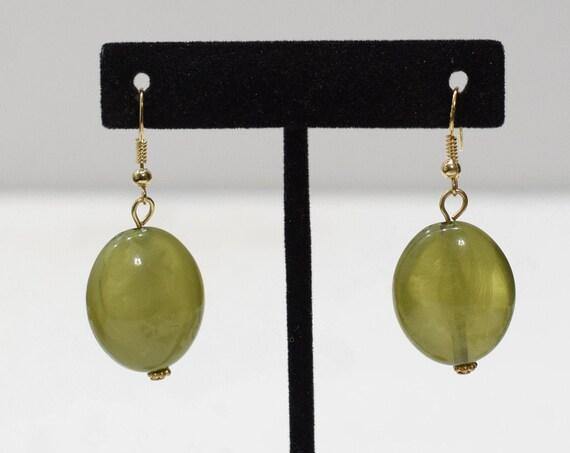 Earrings Plastic Olive Green Dangle Earrings