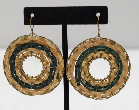 Earrings Philippine Rattan Hoop Earrings